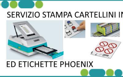 NEWS: SERVIZIO STAMPA ETICHETTE E CARTELLINI PHOENIX